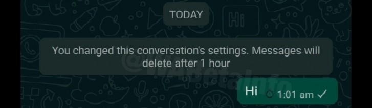 WhatsApp Timer messages